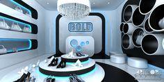 Projektowanie wnętrza butiku Więcej wizualizacji na stronie: http://www.artcoredesign.pl/Projekty/ice-cold-projekt-wnetrza-sklepu/