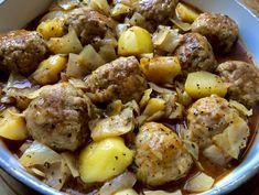 Gołąbkowa patelnia - pyszne danie jednogarnkowe! - Blog z apetytem Cabbage Rolls Recipe, Cabbage Recipes, Cabbage Meals, Calzone, Potato Salad, Smoothies, Food And Drink, Favorite Recipes, Lunch