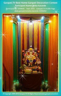 Beautiful Anita Karande Home Ganpati Picture 2016. View More Pictures And Videos Of Ganpati  Decoration At
