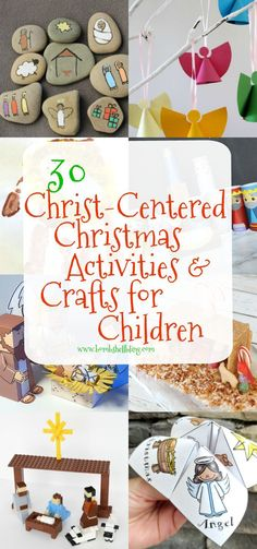 I love these 30 Christ-Centered Christmas Activities and crafts for Children! Perfect for family night during the holidays!