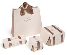 Mulberry Home Packaging by Amanda Brennan, via Behance Scarf Packaging, Fashion Packaging, Luxury Packaging, Paper Packaging, Jewelry Packaging, Packaging Ideas, Shopping Bag Design, Paper Bag Design, 2 Logo