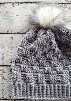 db790833bdd Woven Beanie Crochet Pattern - The Woven Beanie Crochet Pattern uses the basket  weave stitch to