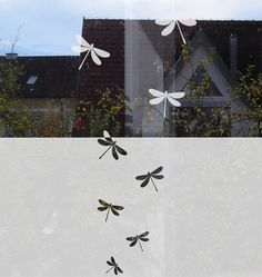 Window Decal etched glass decal dragonflies by MUSTERLADEN on Etsy, €22.50