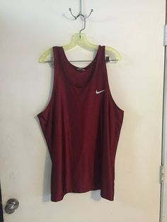 aab95b05b703b Vintage shiny Nike tank red size L