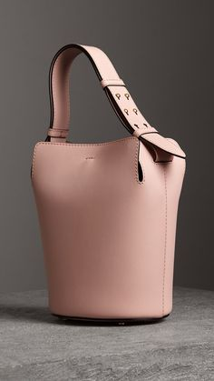 016cdf5ea0976d The Small Leather Bucket Bag in Pale Ash Rose - Women | Burberry Alexander  Wang,