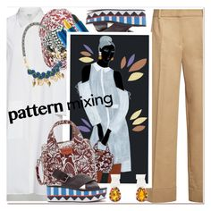 """""""Pattern Mix Master"""" by paculi ❤ liked on Polyvore featuring Sephora Collection and patternmixing"""
