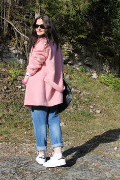 Manteau rose Camaieu