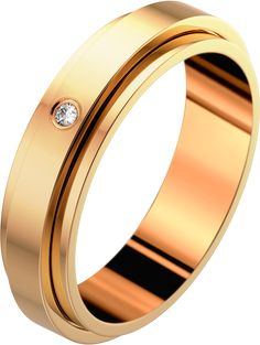 Wedding ring G34PCC00. Rose gold and diamond.