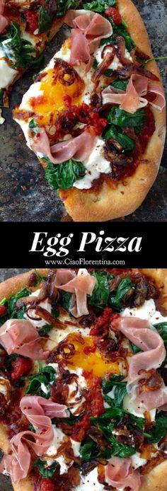 Egg Pizza Recipe | CiaoFlorentina.com @CiaoFlorentina