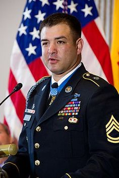 The first MOH living recipient, Leroy Petry from the Afghanistan war.