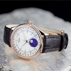 aa7b2944de1 Rolex Watches New Collection   The Cellini Moonphase displays the cycle of  the moon on a blue enamelled disc wi. - Watches Topia - Watches  Best  Lists