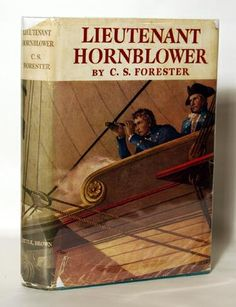 "C. F. Forester's ""Lieutenant Hornblower"". One of many novels following the life of Horatio Hornblower from Mid-shipman to Admiral. The inner struggle of the man is as much a part of the story as the struggle with the sea."