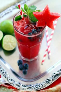 Watermelon Blueberry Mojito – The Perfect Sundowner {no sugar added} | The Clean Dish.