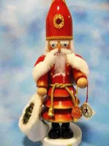 Singed Steinbach St. Nicolas Wooden Nutcracker.  Product in photo is from www.wellappointedhouse.com