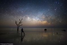 You Bring Me Pure Bliss: Astrophotographer Shreenivasan Manievannan caught the Milky Way on Feb 13, 2016, in Hunting Island State Park, South Carolina.