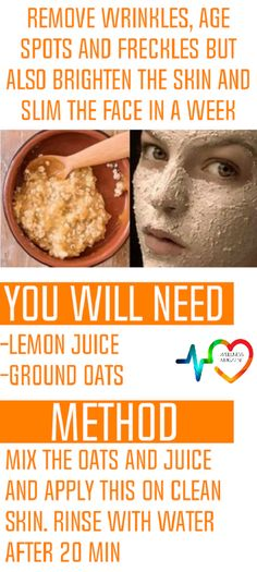 The lemon whitens the skin and eliminates age areas, freckles, deal with fat and more.