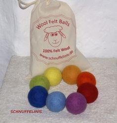 Montessori Toy Rainbow felt balls - Filzkugeln XXL - 8 Set, 6cm, Waldorf Spielzeug, Eco freundliche, natürliche Filzbälle, Waldorf Filzbälle, 100% Merino Wolle,Trockner Bälle by Schnuffelinis on Etsy