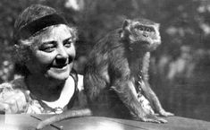 """Emily Carr with her Javanese monkey, Woo, who plays an important part in this book. As Superintendent Therese Brunel points out, """"She adored all animals, but Woo above all. Buy A Monkey, Pet Monkey, Louise Penny, Emily Carr, Feminist Icons, Group Of Seven, National Art, Canadian Artists, Religious Art"""