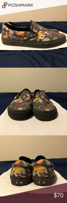 Toy Story vans slip ons Used toy Story vans slip ons, sold out everywhere! Vans Shoes Loafers & Slip-Ons