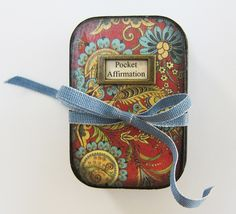 Pocket Affirmation: small altered tin (K.Batsel) Mine!!!!