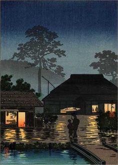 Long Spell of Rain by Tsuchiya Koitsu