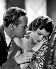Leslie Howard and Myrna Loy publicity photo for The Animal Kingdom, 1932