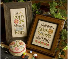 LIZZIE KATE Be Bold & Brave  3 Designs2 by NeedleCaseGoodies