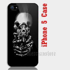 Skull Fearless Custom iPhone 5 Case Cover