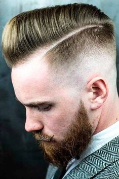 Short Comb Over Blonde Hair Undercut Fade Side Part Beard ❤️ Many barbers think that once a man opts for a comb over, all of his troubles will be over. Even though it may sound ridiculous, let's don't jump to conclusions. Self-respecting men know that a haircut plays a very important role in style. ❤️ See more: #lovehairstyles #hair #hairstyles #haircuts #menshaircuts #menshairstyles #combover #shorthaircuts