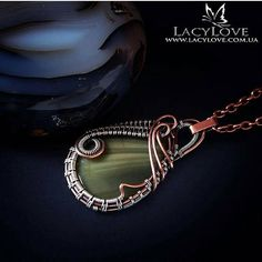 See my other jewelries with different jasper stones here https://www.etsy.com/search?q=lacylovejasper ~ Layla ~ Very beautiful and unique pendant made from copper and 925 sterling silver wires and natural very beautiful dark green Imperial jasper stone of high quality in wire wrap technique. The dimensions of the pendant are approximately 1,4 x 1,8 (3.5 x 4.5 cm.). The metal part of this copper jewelry was oxidized and hand polished. This pendant is a great gift for y...