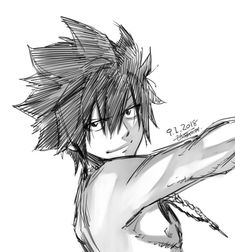 Image about cute in fairy tail by lucia diaz on we heart it Fairy Tail Gray, Fairy Tail Love, Fairy Tail Ships, Anime Fairy Tail, Fairytail, Gruvia, Manga Anime, Anime Art, Anime Guys