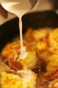 Chingri Macher Malai Curry.      A delicious traditional Bengali shrimp and coconut milk curry