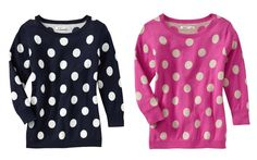 dotted sweaters | old navy polka dot sweater navy pink fuschia