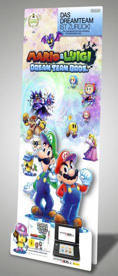 POS Standee . Mario Dream Team Bros. . Nintendo 3DS