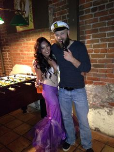 Couple costume- mermaid and her captain. Homemade