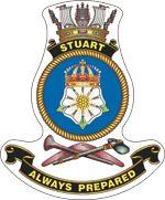 Crest_Stuart.gif (150×181) Ship Logo, Australian Defence Force, Royal Australian Navy, Ship Paintings, Royal Navy, Armed Forces, Crests, War, History