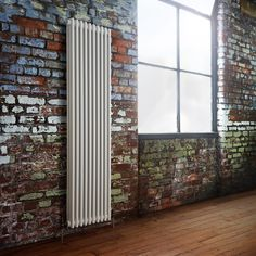Milano Windsor - Traditional White 3 Column Radiator 1800mm x 473mm (Vertical) - White Vertical Traditional Designer Radiator brick wall factory