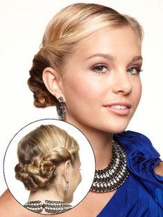 Sleek Twist Updo - Prom Hair