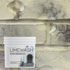 Bring an old-world European look to your home with Tropea Beige Limewash Interior/Exterior Paint by Romabio Classico. This interior/exterior slaked-lime paint is specially designed to produce unique white Brick Masonry, Concrete Bricks, Brick Fireplace, Paint Fireplace, Stone Fireplaces, Brick Wall, Interior Exterior, Exterior Colors, Exterior Paint