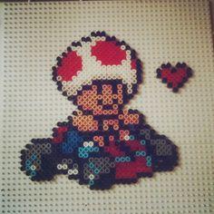 Toad Mario Kart perler beads by plastikperlen