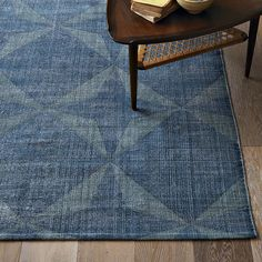 Washed hexagonal tile printed dhurrie by West Elm West Elm Rug, Dhurrie Rugs, Hexagon Tiles, Modern Area Rugs, Contemporary Rugs, My Living Room, Textiles, Woven Rug, Floor Rugs