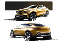 Mercedes-Benz Concept GLC Coupe - Design Sketches - Car Body Design