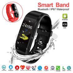 Smart Bracelet Sport Health Bracelet Heart Rate Blood Pressure Smart Band Activity Fitness Tracker Smartband - Sell My Racket Smart Fitness Tracker, Health Bracelet, Smart Bracelet, Take A Shower, Heart Rate, Blood Pressure, Activities, Band, Sports