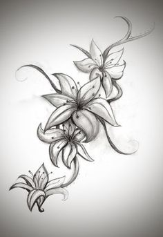 Lily tattoo designs for women.  Wish my lily looked more like this.