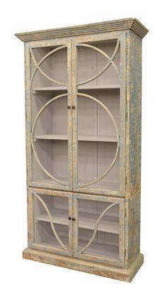 GJ Styles  Bookcase in Distressed Ocean Blue