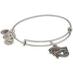 Alex and Ani Eye of Horus Bangle (Rafaelian Silver) Bracelet (3655 DZD) ❤ liked on Polyvore featuring jewelry, bracelets, silver bangle bracelet, silver bangles, alex and ani charms, adjustable bangle bracelet and silver hinged bangle