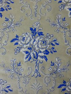 Jugendstil Tapete 10 - Bild 1 Victorian Wallpaper, Antique Wallpaper, Vintage Wallpapers, Art Nouveau Wallpaper, Wall Wallpaper, Batik Art, Embroidery Fabric, Embroidery Designs, Carpet Design