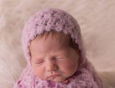 Newborn girl bonnet  Crochet baby bonnet  Beautiful baby