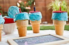 Firework Ice Cream Cone Cupcakes