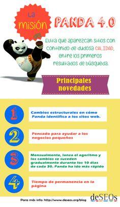 La misión del Panda 4.0 #Panda #Google #infografía #deSEOs #SEO